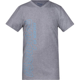 Bergans Youth Tee Grey Melange/Glacier/Steel Blue